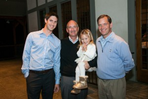 Jeffrey Cappo (center) with son Eric, daughter, and brother Geno